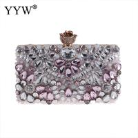 YYW Bags for Women 2018 Diamonds Evening Bag Ladies Clutches Party Bags Female Beaded Wedding Clutch Purses Pillow Shaped