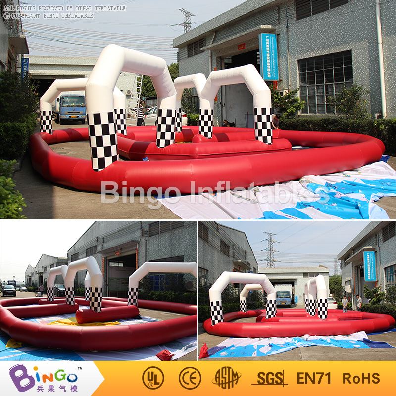 11*9*2.5m PVC go kart inflatable circuit racing track for sporting events, inflatable race track for sale inflatable zorb ball race track pvc go kart racing track for sporting party