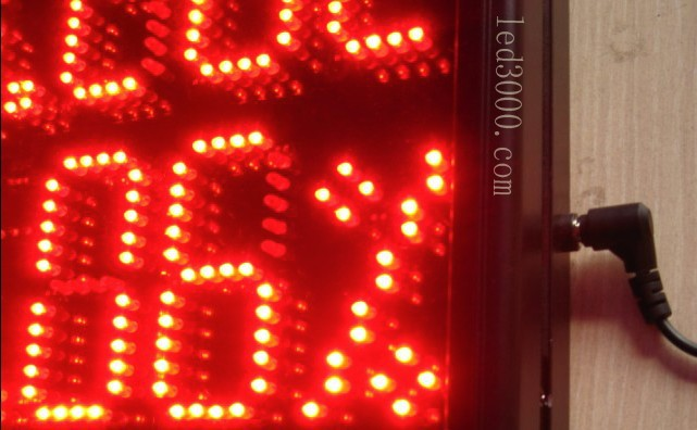 large size indoor temperature and humidity led display,led clock,led - Home Decor - Photo 3