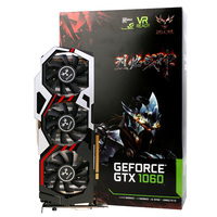 Original Colorful iGame1060 U 6GD5 Top 192bit GDDR5 Graphics Card 6GB GDDRS GeForce GTX 1060 with HDMI / DVI/ DP 1.4 Interface