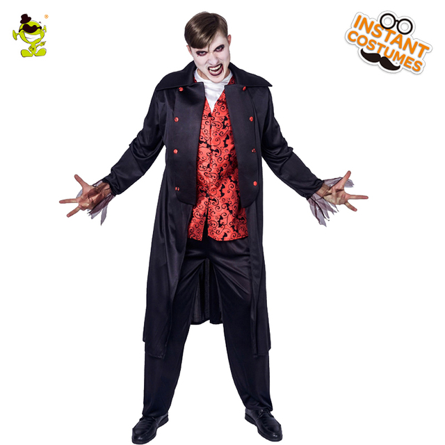 Adult Men Deluxe Vampire Costumes Cosplay Purim Halloween Party Man Vampire  Clothing Performance Vampire Costume 7a0370e16