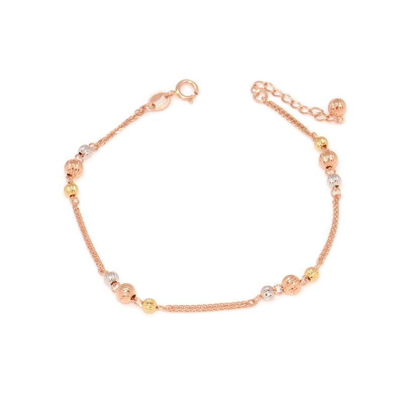 18 k couleur or fleur de voiture lanterne perles Chopin bracelet modèles féminins