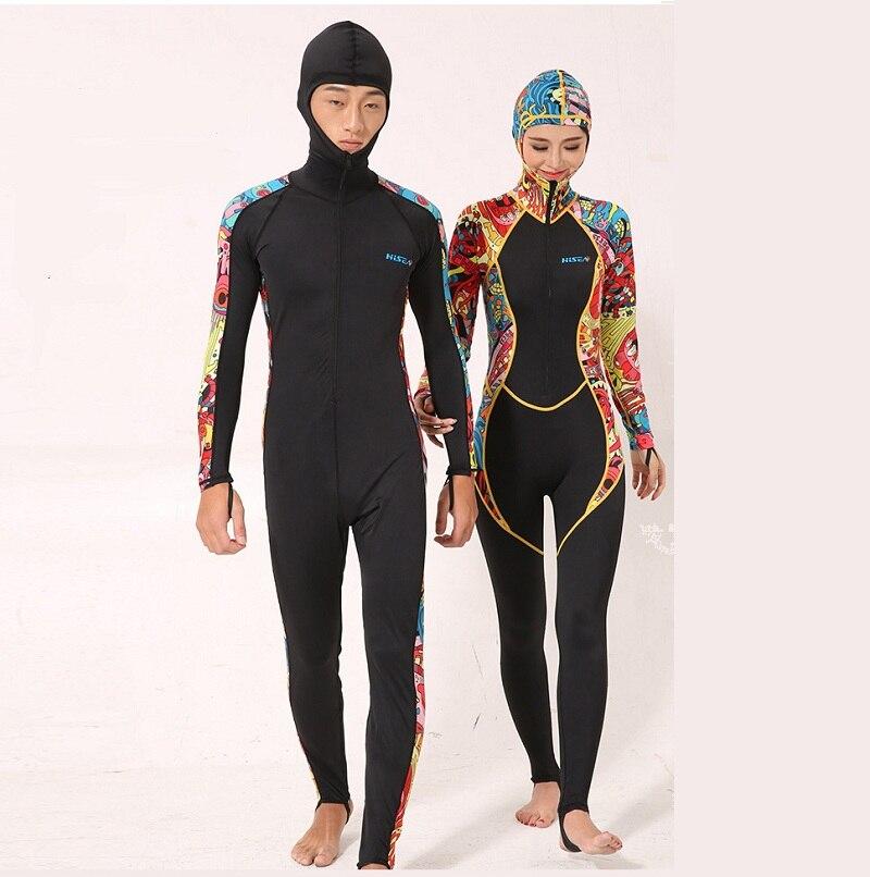 0.5MM Scuba dive Wet suit with hat Wetsuit Equipment Snorkeling Jumpsuit One piece long sleeve Triathlon Spearfishing Surf