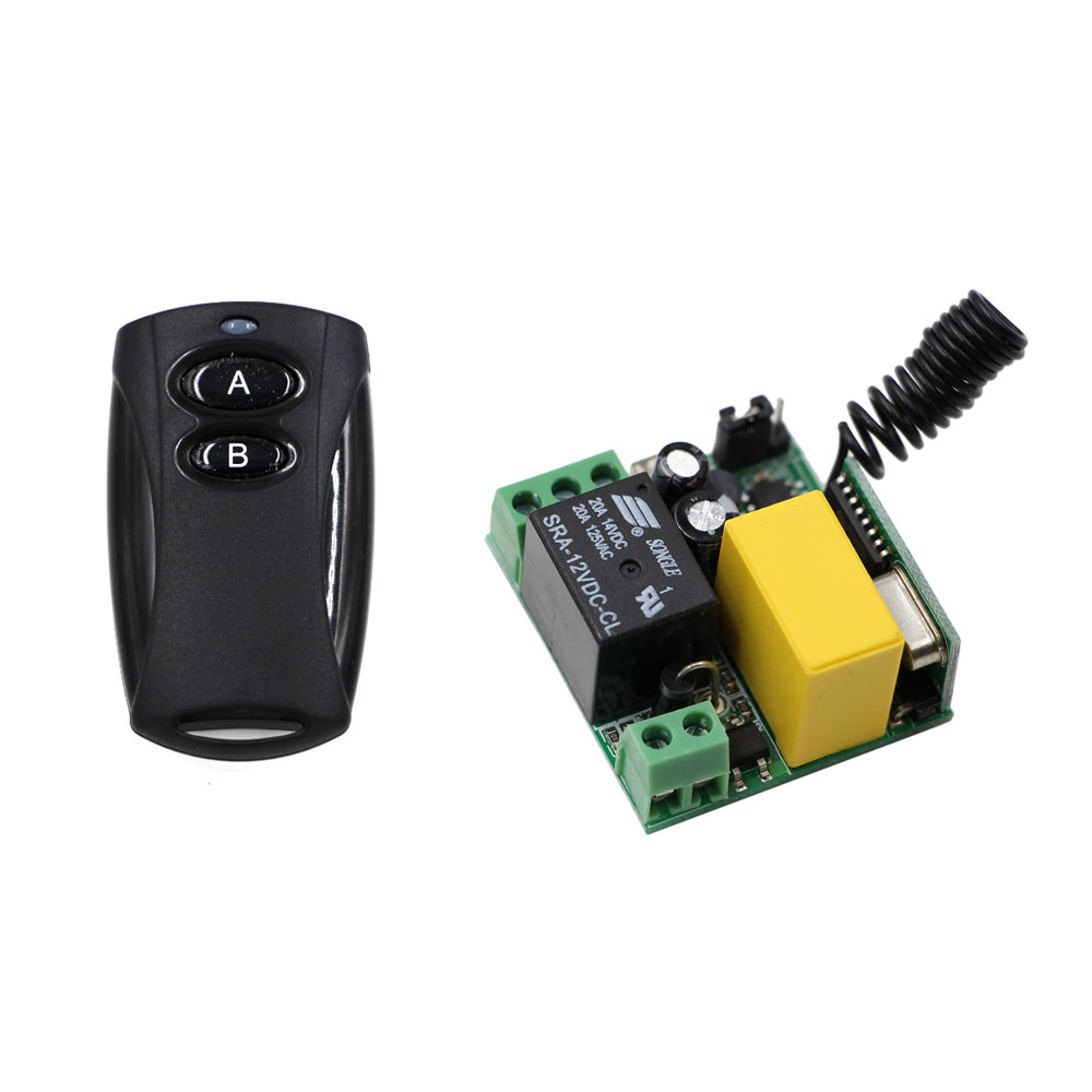 New Item RF Wireless Remote Control Switch AC 220V 10A 1 Channel Mini Receiver + Transmitter for Intelligent Home 315Mhz new arrival for ac 220v 1ch small channel wireless remote control radio switch 315mhz 1 transmitter 3 receiver 200m sku 5226