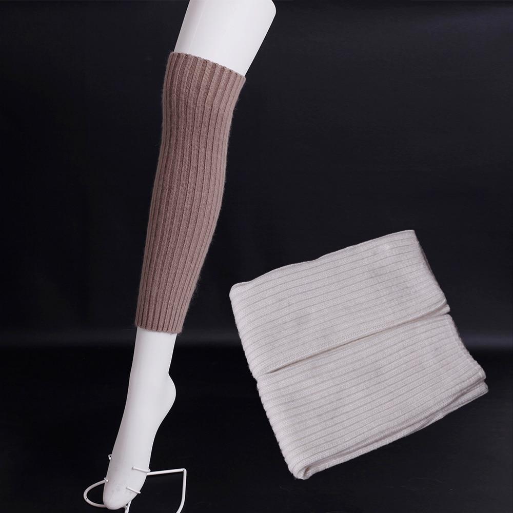 2016 Pinstripe wool Leg Warmers winter women warm Boot socks Pure color contracted Knee socks Fashion collocation Leg Warmers
