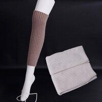 Pinstripe wool Leg Warmers winter women warm Boot socks Pure color contracted Knee socks Fashion collocation Leg Warmers