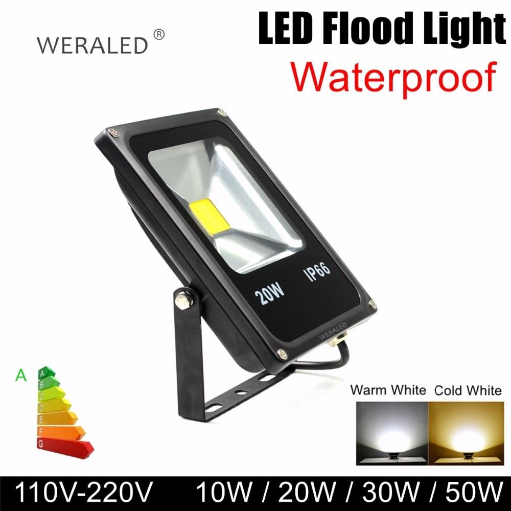 WERALED 10W 20W 30W 50W IP65 Outdoor LED Floodlight Waterproof Garden Lamp newest Wall Washer Lamp Reflector Spotlight