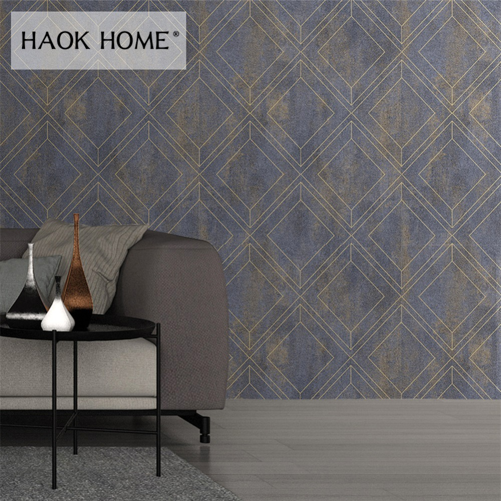 Us 399 Haokhome Modern Wallpaper Non Woven Textured Living Room Bedroom Kitchen Home Wall Decor In Wallpapers From Home Improvement On Aliexpress
