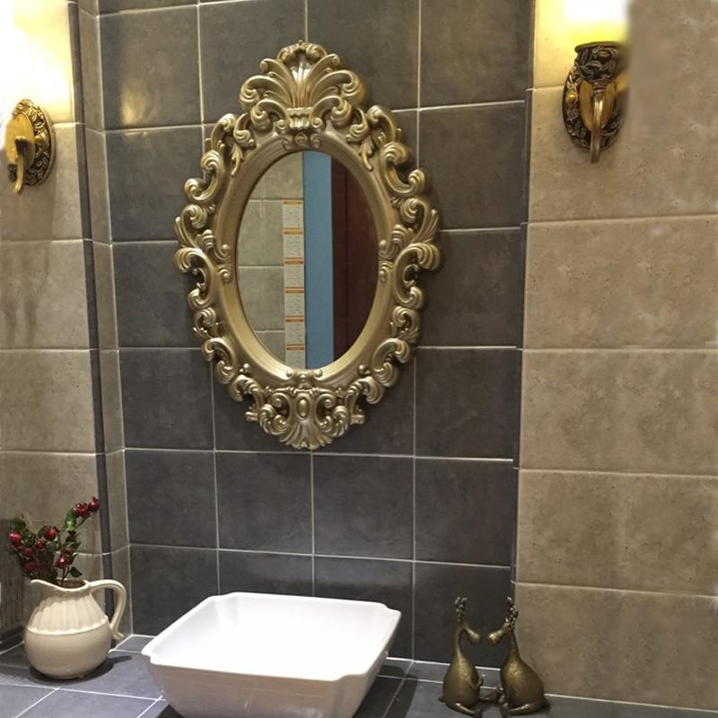 75cmx53cm European Bathroom Mirror Retro Bathroom Decorative Mirror Photo Frame Mediterranean ...