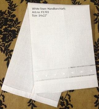 Serviettes de mouchoirs à la mode 14x22 pouces | Ensemble de serviettes en lin blanc, serviettes d'invités Vintage, serviettes à main brodées à points pour la décoration de la maison
