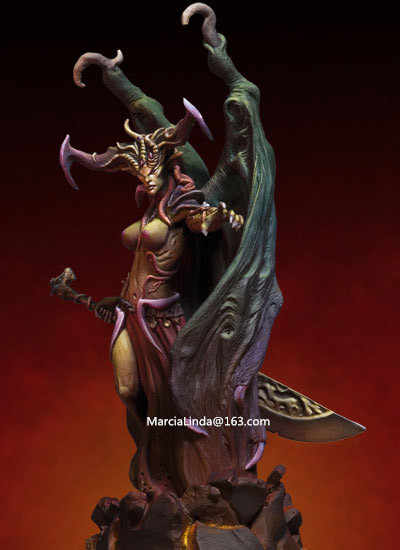 1/32 Scale 8-9.5CM High Demon messenger Unpainted Resin Model Kit Figure Free Shipping