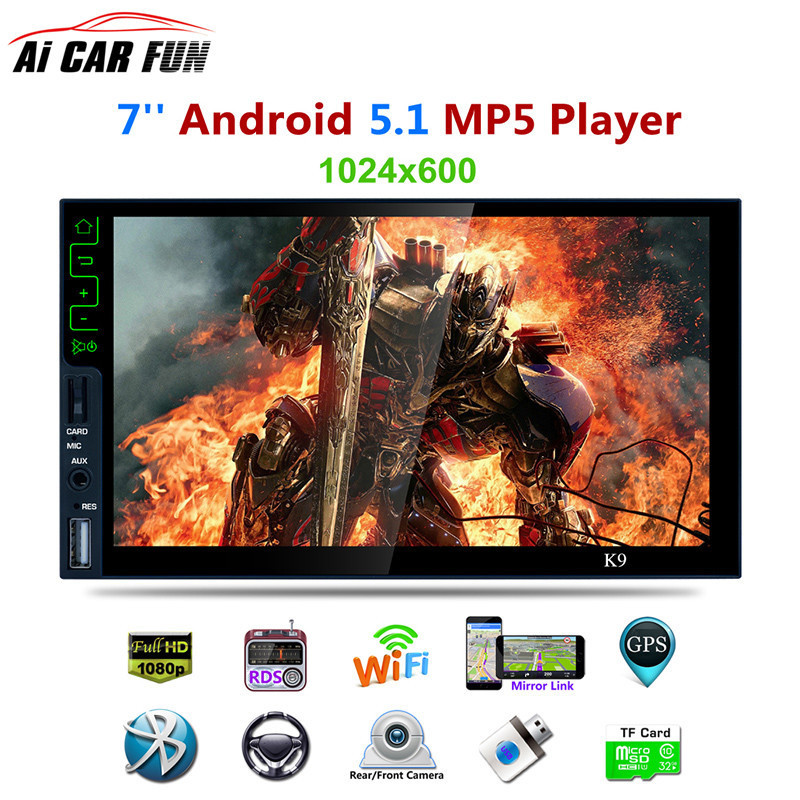 K9 7 inch Quad core Android 5 1 System Bluetooth HD MP5 Player 3G Wifi Connect