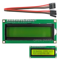 I2C IIC LCD 1602 Yellow Green Display Module For Arduino Raspberry Pi AVR STM32