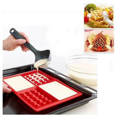 US $4 99 |All Kinds of Silicone Cake Mould 4 Even Larger Waffles Nestle  Chocolate Cookie Mold Silicone Products-in Baking & Pastry Tools from Home  &