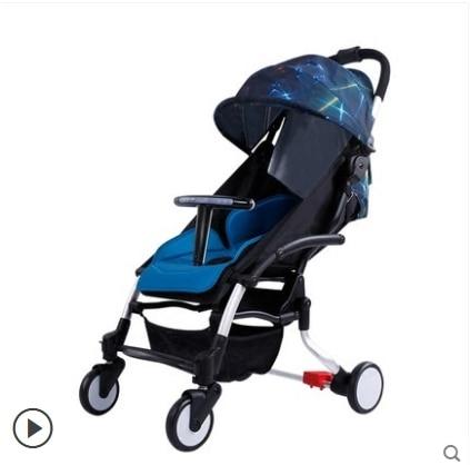 carrinho de bebe de freio inteligente alta paisagem carrinho de bebe pode sentar e deitado