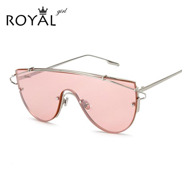 Royal girl hight calidad de la vendimia de las mujeres gafas de sol de diseñador de la marca gafas de sol de gran tamaño gafas oculos mujer ss565