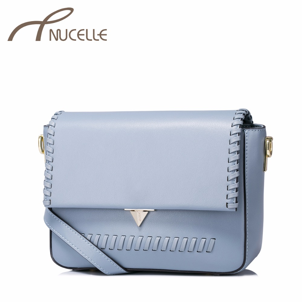 NUCELLE Women Split Leather Messenger Bags Ladies Fashion Knitting Shoulder Purse Female Brief Leisure Crossbody Bags NZ4957 2017 fashion all match retro split leather women bag top grade small shoulder bags multilayer mini chain women messenger bags