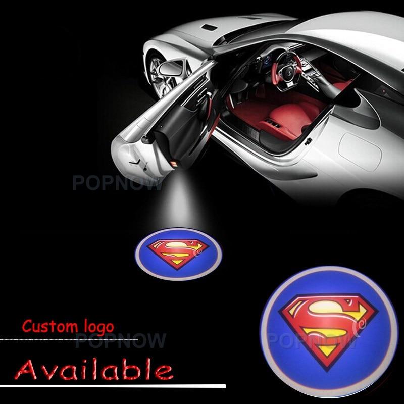 2x Superman Logo LED Light Car Door Welcome Light Laser Projector Shadow Ghost Lamp For VW Chevy BMW #1189 2 x newest led car door light ghost shadow light welcome laser projector logo for fiat panda doblo ducato bravo stilo 500 punto