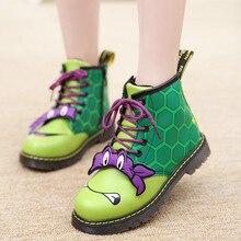 Малыш Сапоги и ботинки Высокое качество модные детские ботинки Martin мультфильм черепаха Нескольские зимние сапоги для детей