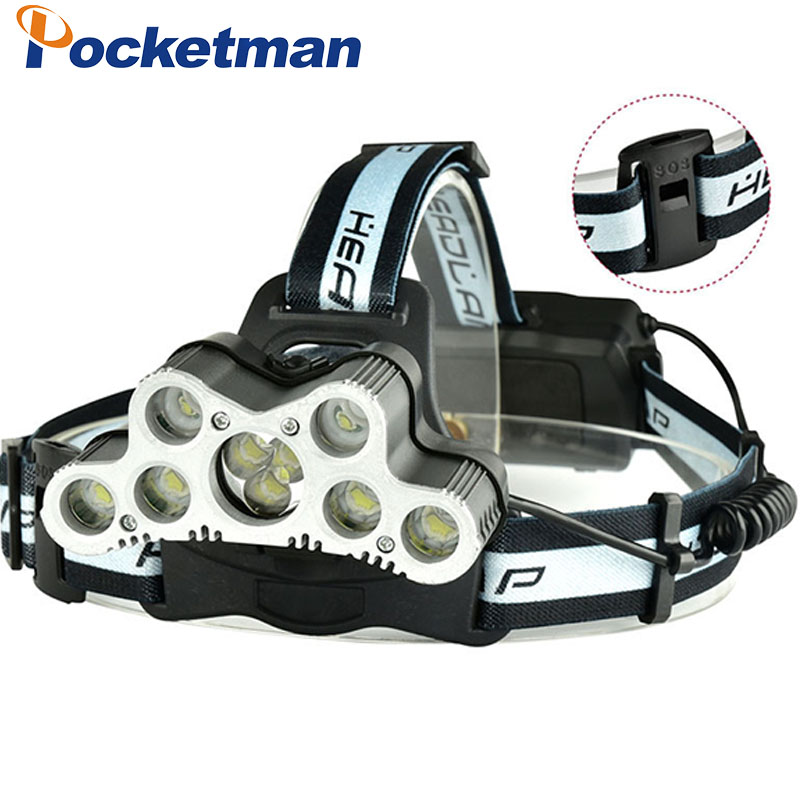 Super 46000LM USB 9LED Led Headlamp Headlight head flashlight torch XM-L T6 head lamp rechargeable for 18650 battery r3 2led super bright mini headlamp headlight flashlight torch lamp 4 models
