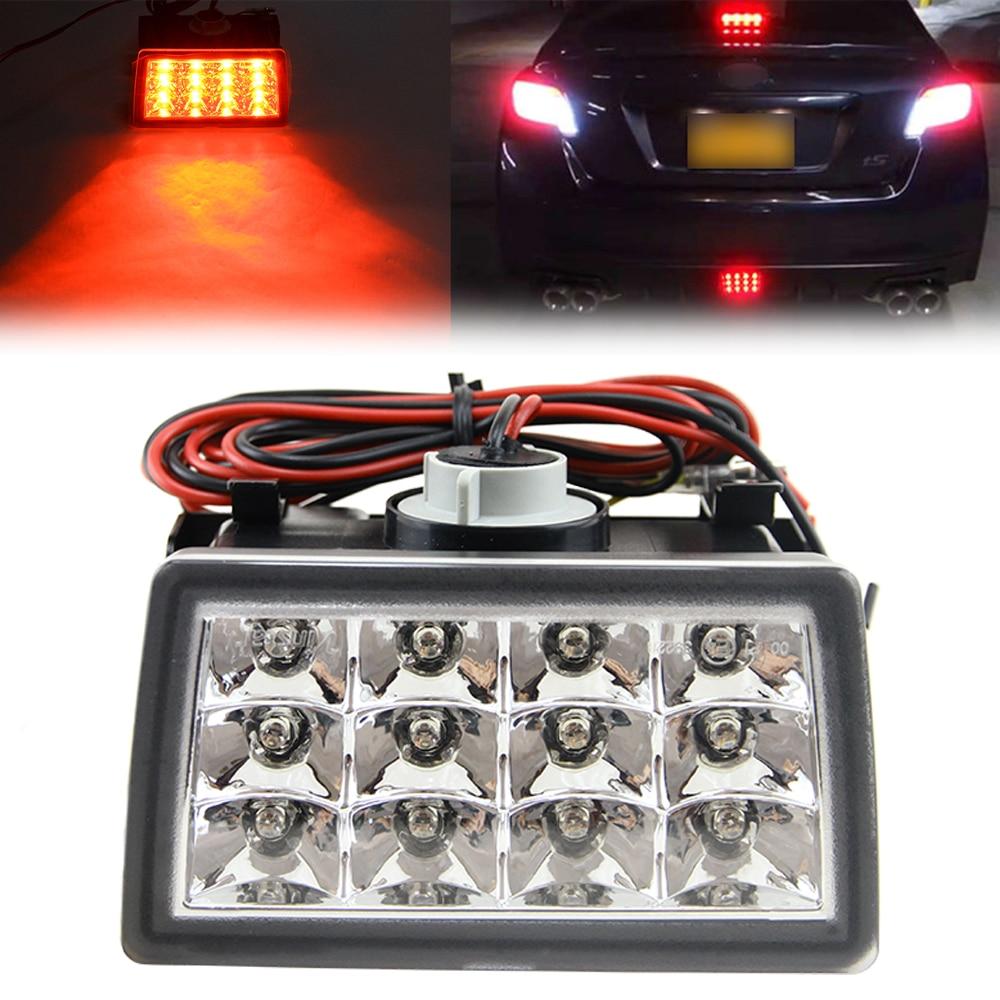 Для прозрачные линзы сти Субару XV светодиодные задние мигалки Строб тормозные огни Лампа F1 Стиль 4-й тормозной/задний фонарь задний противотуманный фонарь