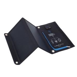 Image 2 - Xionel Tragbare 15W Folding Wasserdichte Solar Panel Ladegerät Mobile Power Bank für Telefon Batterie Dual Display USB Port Im Freien