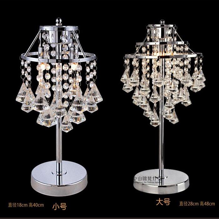 Творческий лампа Настольные лампы 2018 простой K9 Crystal Light прикроватная лампа для теплой спальне гостиная украшения свадебные ZA SJ40