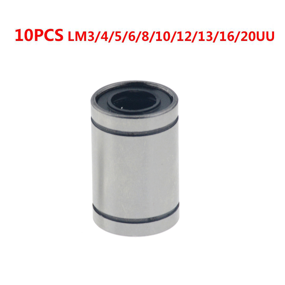 10PCS LM8UU LM10UU LM16UU LM6UU LM12UU LM3UU Linear Bushing 8mm CNC Linear Bearings For Rods Liner Rail Linear Shaft Parts