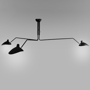 Image 2 - Black Lustre Iron Chandelier Lighting Adjustable Chandeliers Ceiling Loft Living Room Bedroom Kitchen LED Nordic Light Fixtures