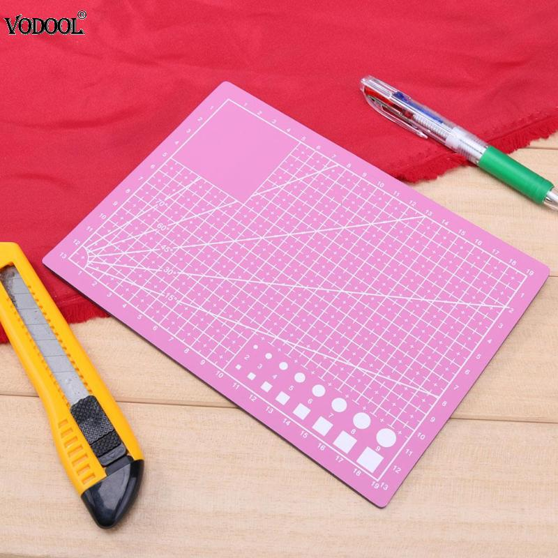 A5 PVC Cutting Mat Cutting Pad Patchwork Cut Pad Patchwork Tools Manual DIY Tool Cutting Board Double-sided Self-healing