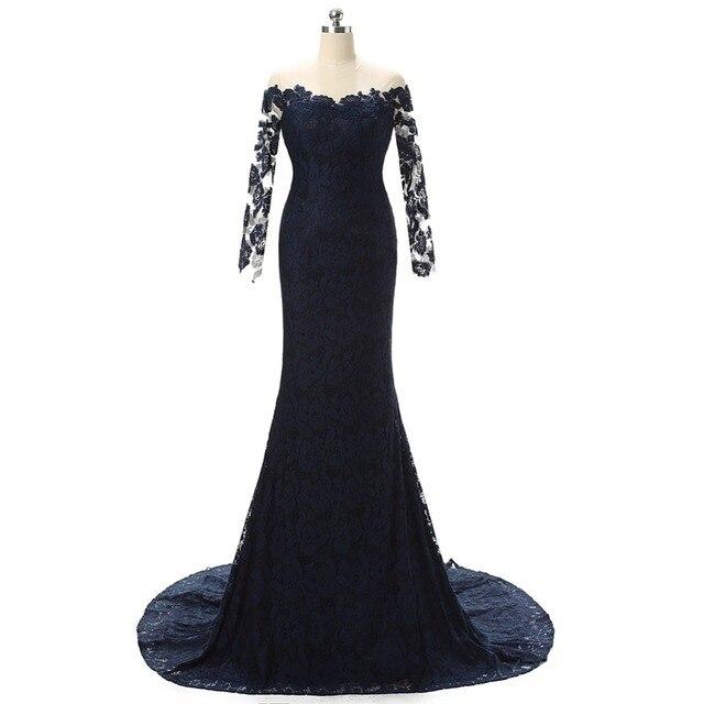 dark navy mermaid mother of the bride dresses