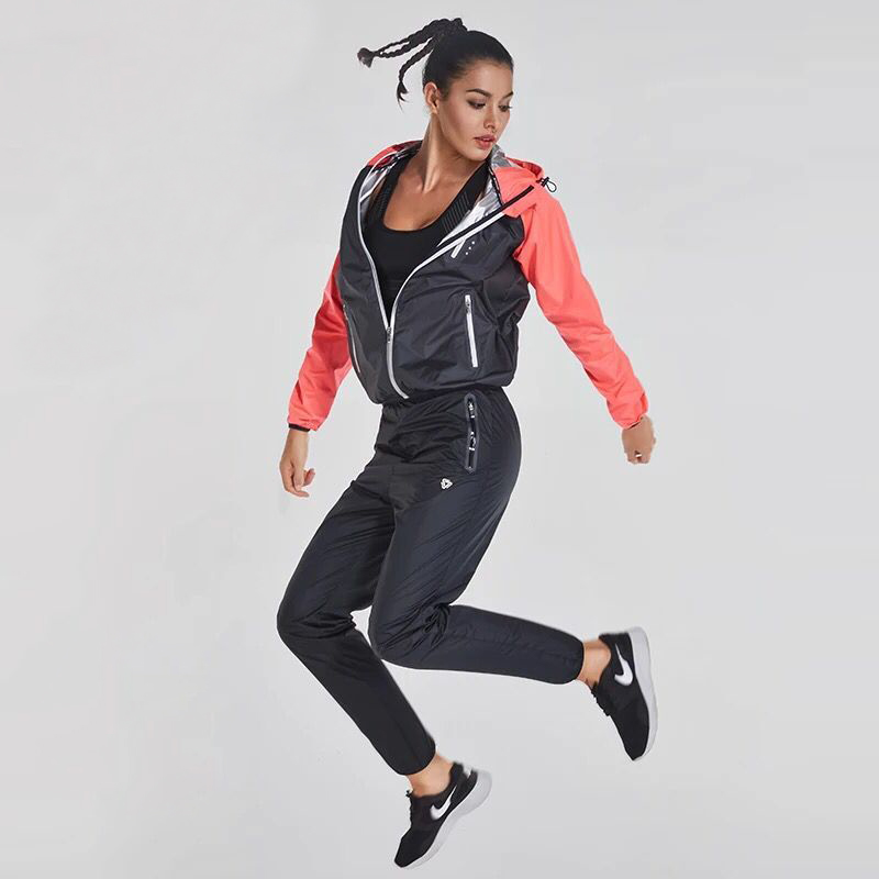 Hot Sweat Running Set Women Gym Clothes Yoga Workout Fitness Training Tracksuits 2PCS Sports Jogging Suits