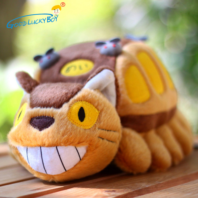 30cm Cute Cartoon Animation Bus Totoro Doll Soft Plush Animal Toys Stuffed Totoro Kawaii Gift Toys For Children
