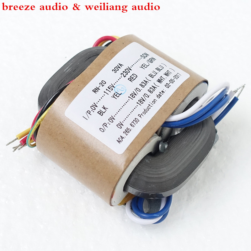 WEILIANG AUDIO 30W R-type Transformer Dual 6V 9V 15V 18V 24V