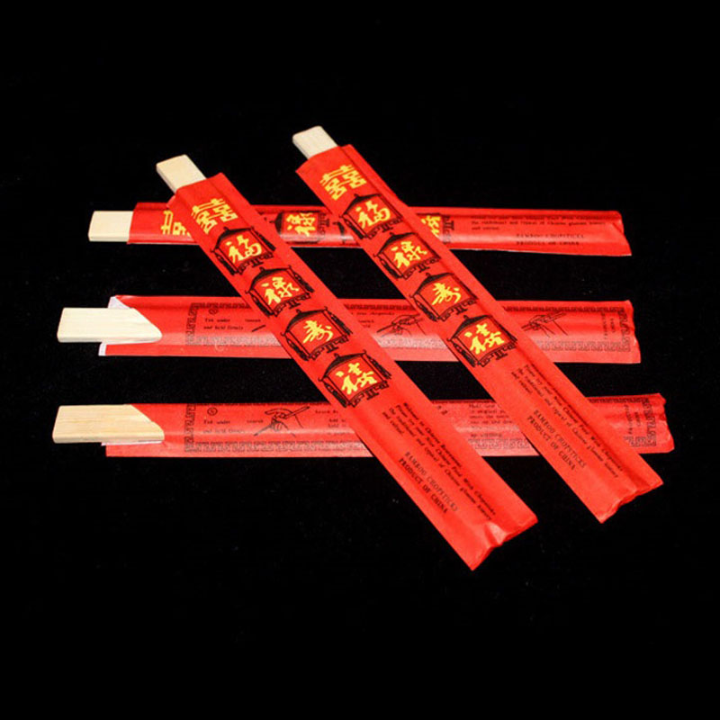 1000pairs 20cm New Chinese Disposable Bamboo Chopsticks Fu Symbol Chopsticks Individually Wrapped ZA6729
