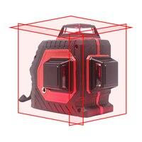 KETOTEK 12 линий лазерный уровень 3D самонивелирующийся 360 градусов горизонтальный и вертикальный крест красный лазерный луч линия