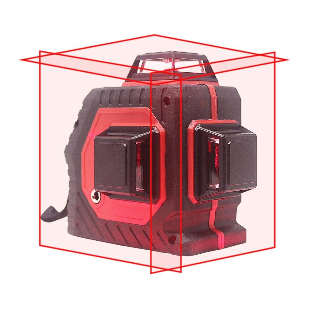 KETOTEK 12 Linee di Livello Laser 3D Self-Leveling 360 Gradi Orizzontale E Verticale Croce Laser Rosso Linea di Fascio