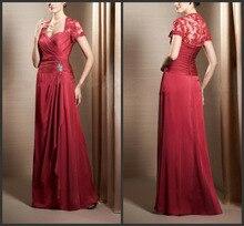 Mutter der braut kleider langen roten abendkleid 2015 neue reizvoller schatzansatz wurfhülse appliques falten frauen kleid vestidos