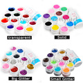 12 Color Transparent Solid Pure Glittery hexagon UV GEL Builder Nail ART Cleanser Plus Set Tips Kit For Nail Pedicure Manicure
