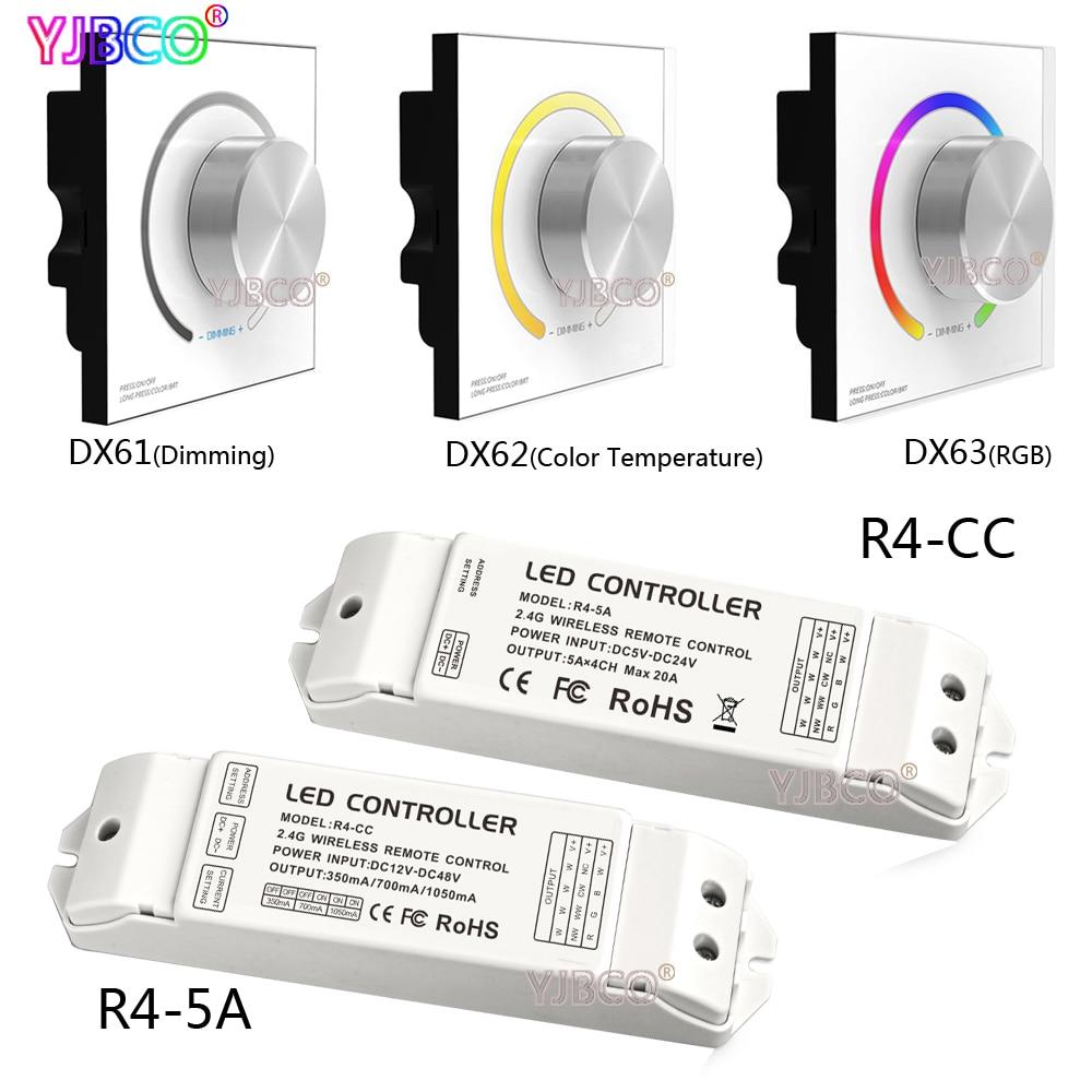ltech DX61 DX62 DX63 2.4G LED Sync Color Temperature RGB DMX512 Signal Ouput dimmer controller Wall Mount knob panel карабинов вепрь 7 62 х 63 отзывы купить