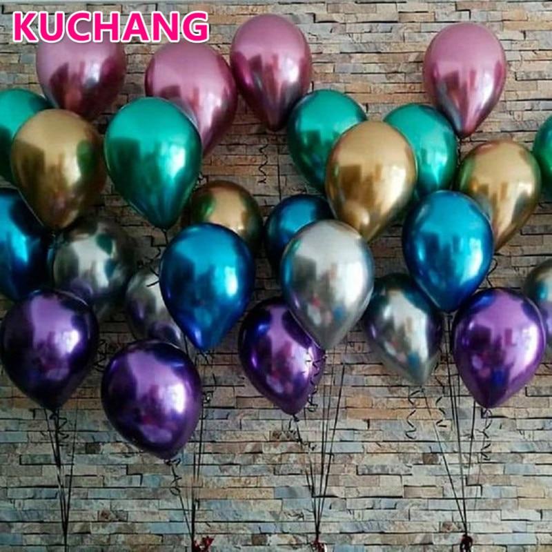"12/"" Metallic Birthday Wedding Baby Shower new baby Party Pearl Latex Balloons"