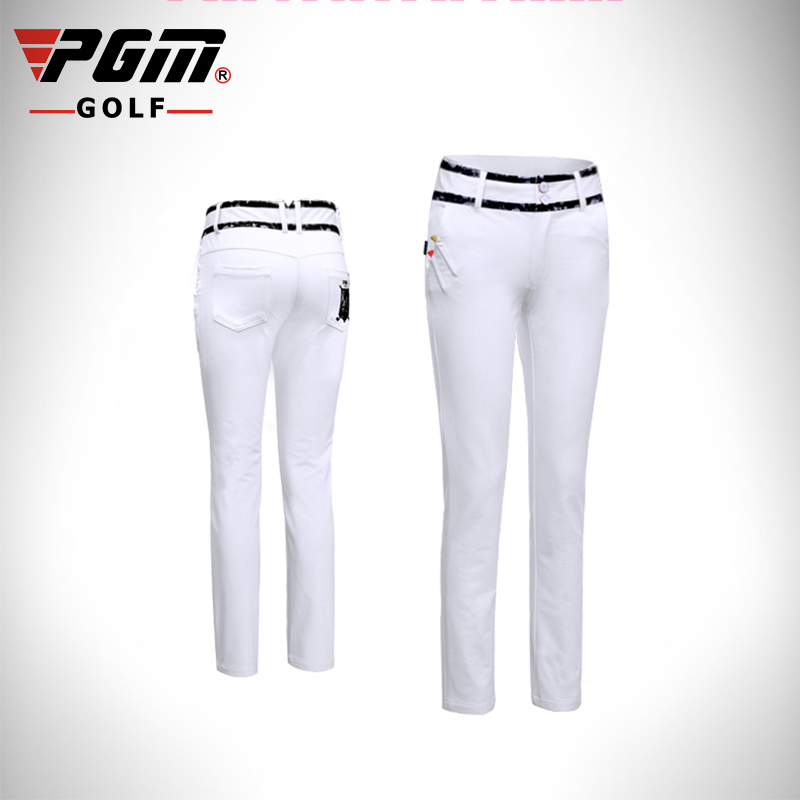 PGM New Golf Pants For Women Brand Breathable Elastic Sports Pants Professional Golf Pants Lady Sports Trousers Golf Sportwear