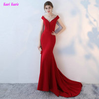 2016 Applique Satin Sleeveless High Quality Formal Evening Dress Sexy Red Sweetheart Mermaid Prom Dresses