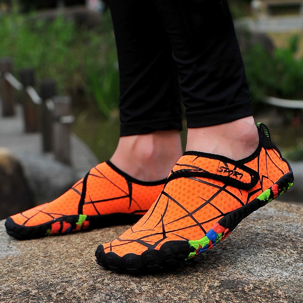 Beach Summer Outdoor Wading Swimming Slipper On Surf Quick-Drying Skin Sock Striped Water Shoes