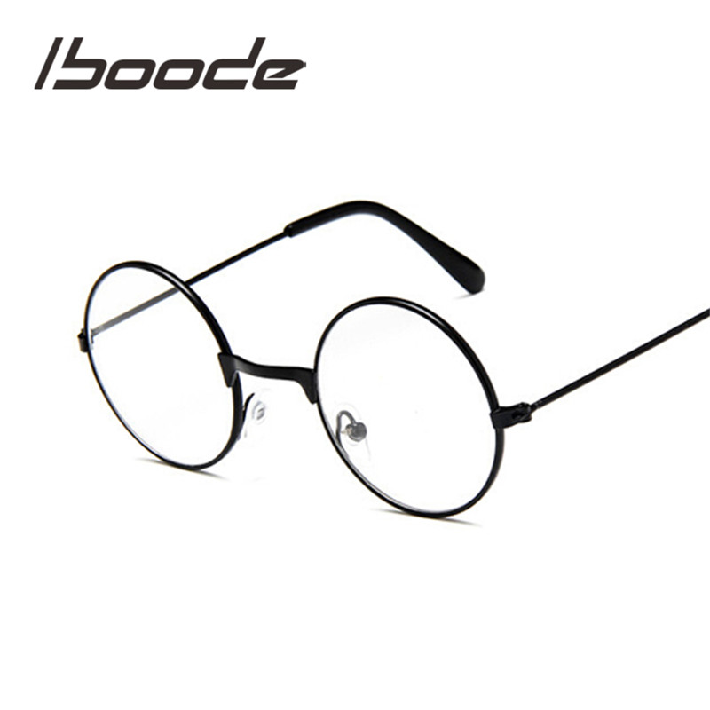Iboode Round Spectacles Glasses Frames Eyewear Kids With Clear Lens Myopia Optical Transparent Glasses For Children Boys Girls