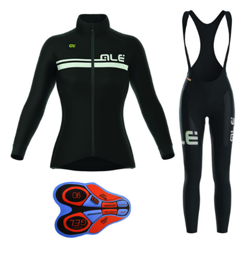Pro Team ALE Cycling Jersey bib pants Long sleeve Women Set Bicycle Clothing mujer Bike Clothes Ropa uniformes Ciclismo hombre