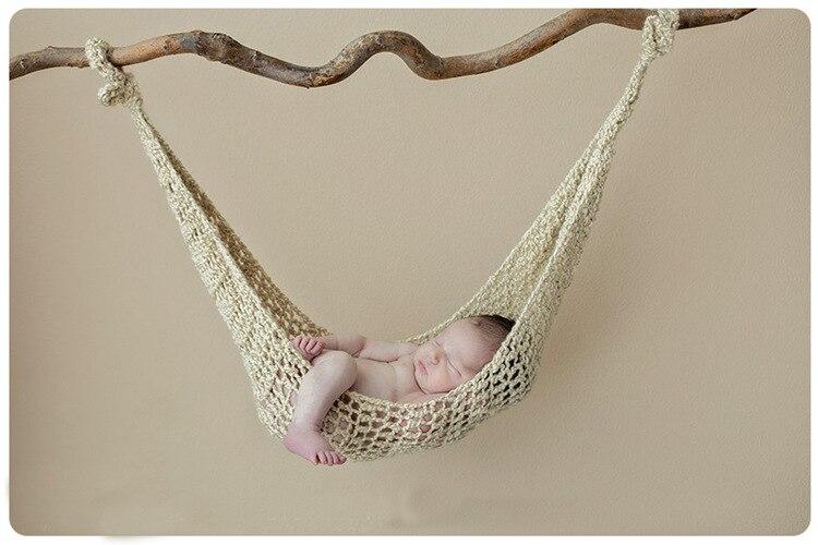 Newborn Photography Props Handmade Blanket Woolen Knitting Baby Photo Swadding Hammock Stuffer Atrezzo Fotos Toys