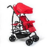 Kinderwagon twins stroller baby stroller emperorship child double umbrella car light folding bike