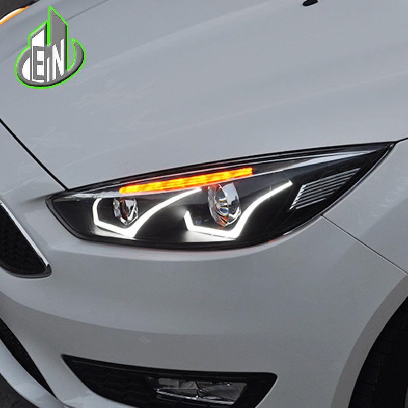 Car Styling Head Lamp For Ford Focus MK3 Headlights 2015-2017 LED Headlight DRL Daytime Running Light Bi-Xenon HID Accessories car headlights for ford focus 3 sedan hatchback 2015 2016 2017 led headlight kit head lights drl turning lights auto front lamps