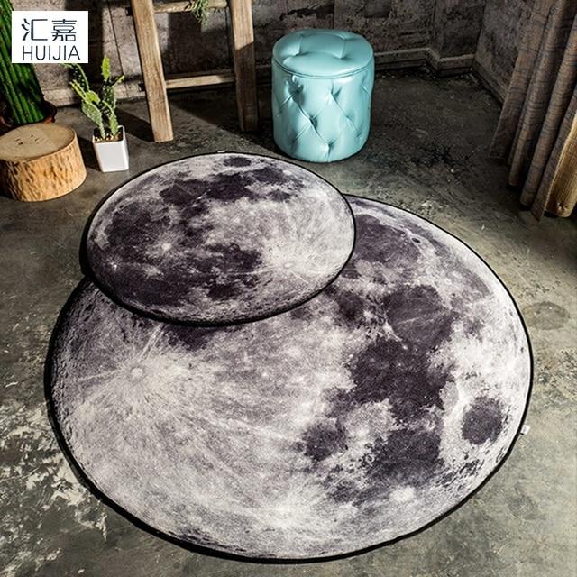 Die Mond Runde Bodentürmatten Set 3D Die Erde Teppich Und Carpet  Kinderzimmer Tapete Tapis Küche